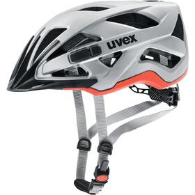 UVEX Active CC Cykelhjelm, silver-orange matt